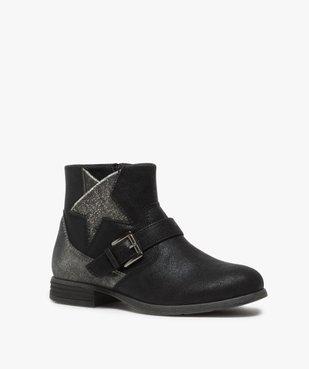 Boots fille zippés avec étoile pailletée sur le côté vue2 - Nikesneakers (ENFANT) - Nikesneakers