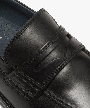 Mocassins homme unis à enfiler semelle intérieure cuir dessus cuir lisse vue6 - Nikesneakers(URBAIN) - Nikesneakers