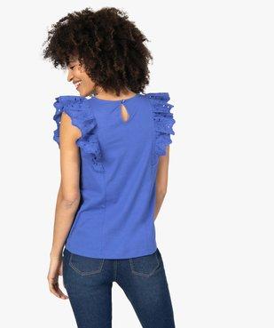 Tee-shirt femme bi-matières ajouré sur l'avant vue3 - Nikesneakers(FEMME PAP) - Nikesneakers