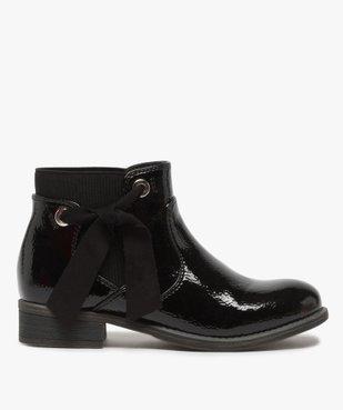 Boots fille unis tige vernie et ruban décoratif vue1 - Nikesneakers (ENFANT) - Nikesneakers