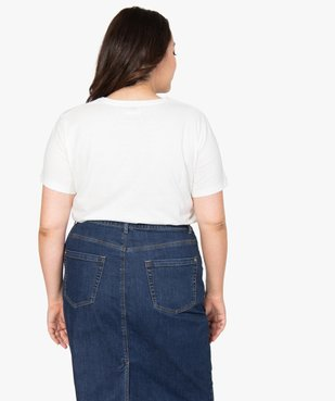 Tee-shirt femme à manches courtes imprimé vue3 - GEMO (G TAILLE) - GEMO