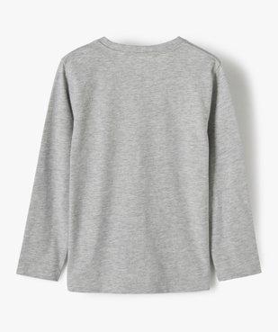 Tee-shirt garçon à manches longues avec large motif  vue3 - GEMO C4G GARCON - GEMO