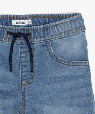 Bermuda garçon en jean avec revers cousus vue2 - GEMO (ENFANT) - GEMO