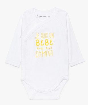 Body croisé bébé à manches longues (lot de 3) vue2 - GEMO C4G BEBE - GEMO