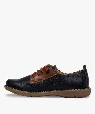 Derbies femme confort bicolores à lacets élastiques vue3 - Nikesneakers (CASUAL) - Nikesneakers