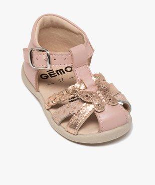Sandales premiers pas bébé fille en cuir vue5 - Nikesneakers(BEBE DEBT) - Nikesneakers