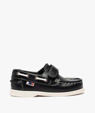 Chaussures bateau garçon dessus cuir à fermeture scratch vue1 - GEMO (ENFANT) - GEMO