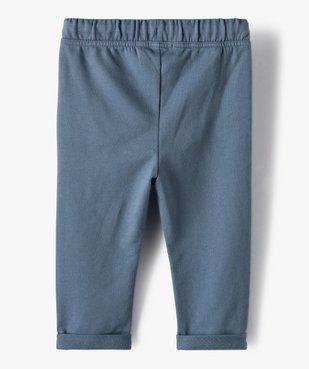 Pantalon bébé garçon en maille  vue3 - GEMO C4G BEBE - GEMO