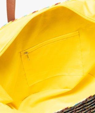 Sac de plage femme multicolore en paille tressée vue3 - GEMO (ACCESS) - GEMO