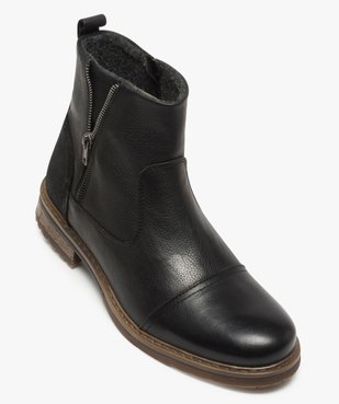 Boots homme zippés dessus cuir et doublure chaude vue5 - Nikesneakers (CASUAL) - Nikesneakers