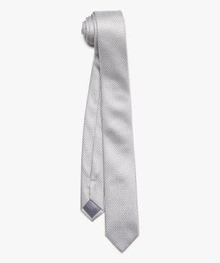 Cravate homme satinée à micro motifs en relief vue1 - GEMO (ACCESS) - GEMO