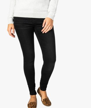 Jean femme skinny à taille normale en stretch délavé vue1 - GEMO (JEAN) - GEMO
