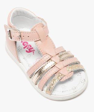 Sandales bébé filles en cuir détails métallisés - Bopy vue5 - BOPY - GEMO