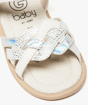 Sandales bébé fille à scratch avec brides entrecroisées vue6 - GEMO(BEBE DEBT) - GEMO