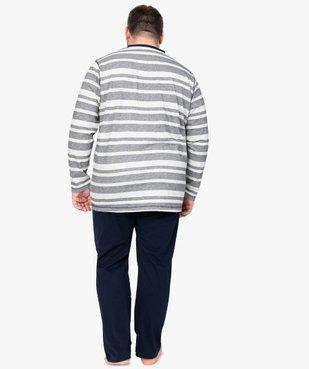 Pyjama homme avec haut rayé vue3 - Nikesneakers(HOMWR HOM) - Nikesneakers