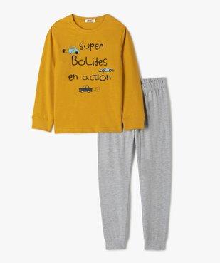 Pyjama garçon avec inscriptions et motifs voitures vue1 - GEMO (ENFANT) - GEMO