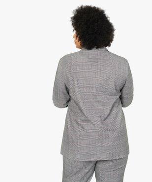 Veste femme à motif Prince de Galles vue3 - GEMO (G TAILLE) - GEMO