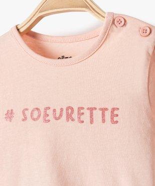 Tee-shirt bébé fille manches longues avec motifs et inscriptions vue2 - Nikesneakers C4G BEBE - Nikesneakers