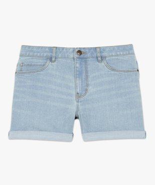 Short femme en jean avec revers cousus vue4 - GEMO(FEMME PAP) - GEMO