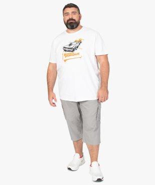 Pantacourt homme en toile unie avec larges poches vue5 - GEMO (G TAILLE) - GEMO