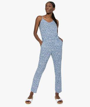Combinaison pantalon femme à motifs fleuris vue1 - GEMO(FEMME PAP) - GEMO