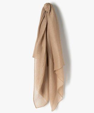 Foulard femme plissé à paillettes vue1 - GEMO (ACCESS) - GEMO