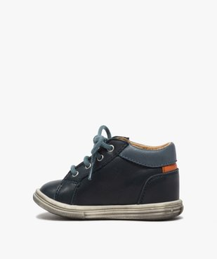 Chaussures premiers pas bébé garçon à lacets - Bopy vue3 - BOPY - GEMO