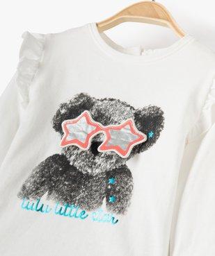 Tee-shirt bébé fille avec volants aux épaules – Lulu Castagnette vue2 - LULUCASTAGNETTE - Nikesneakers
