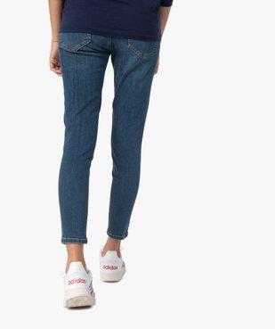 Jean de grossesse coupe Slim avec bandeau bas vue3 - Nikesneakers (MATER) - Nikesneakers