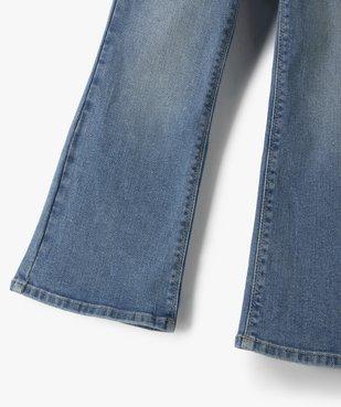 Jean fille coupe bootcut avec ceinture pailletée vue3 - Nikesneakers (ENFANT) - Nikesneakers
