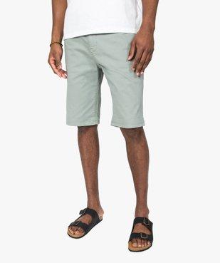 Bermuda homme en coton stretch vue1 - GEMO (HOMME) - GEMO