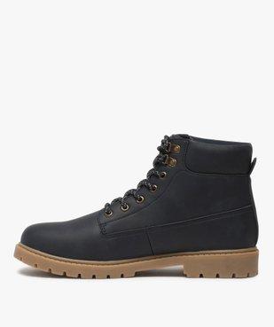 Boots homme à semelle crantée et lacets - Les Supaires à semelle contrastante et lacets bicolores vue3 - GEMO (CASUAL) - GEMO