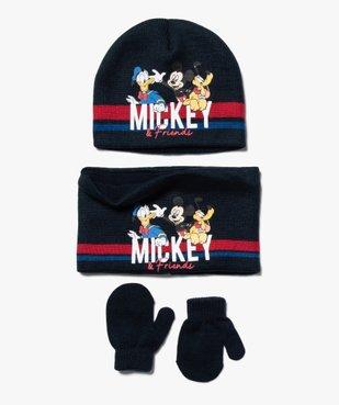 Ensemble bébé garçon (3 pièces) : bonnet + snood + gants - Mickey vue1 - MICKEY - GEMO