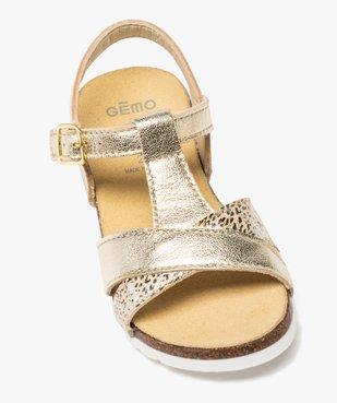 Sandales fille à semelle liège et brides métallisées vue5 - GEMO (ENFANT) - GEMO