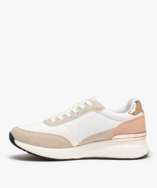 Baskets femme multi-matières à lacets - Ellesse vue3 - ELLESSE - Nikesneakers