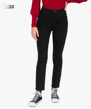 Jean femme slim à taille haute denim noir - L30 vue1 - Nikesneakers(FEMME PAP) - Nikesneakers