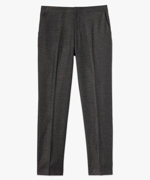 Pantalon femme aspect lainage avec taille élastiquée vue4 - GEMO(FEMME PAP) - GEMO