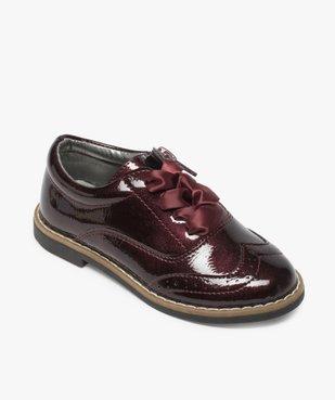 Derbies fille vernis avec lacets rubans et zip vue5 - Nikesneakers (ENFANT) - Nikesneakers