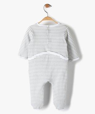 Pyjama bébé garçon à rayures et motif crabe vue3 - GEMO C4G BEBE - GEMO