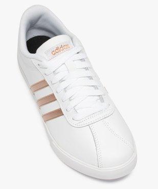 Baskets femme bicolores à lacets – Adidas Courtset vue5 - ADIDAS - Nikesneakers