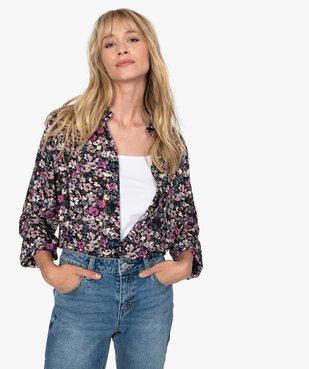 Chemise femme à motifs fleuris vue2 - GEMO(FEMME PAP) - GEMO
