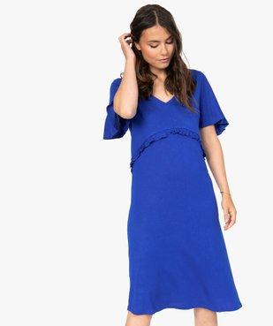 Robe de grossesse col V avec bande froncée vue1 - Nikesneakers (MATER) - Nikesneakers