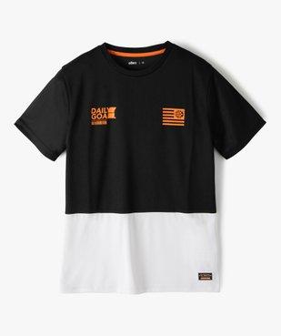 Tee-shirt garçon à manches courtes en maille légère vue1 - GEMO (ENFANT) - GEMO