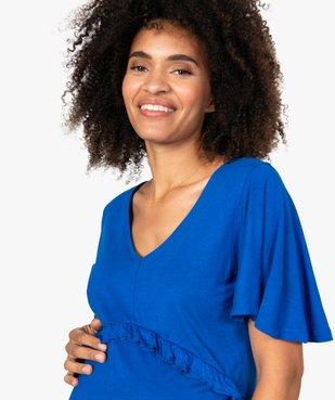 Robe de grossesse col V avec bande froncée vue2 - GEMO (MATER) - GEMO