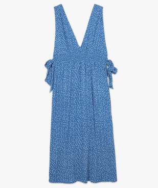 Robe de plage femme imprimée longue et échancrée  vue4 - GEMO (PLAGE) - GEMO