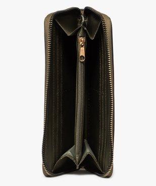 Portefeuille femme bi-matières avec clous métalliques vue3 - GEMO (ACCESS) - GEMO
