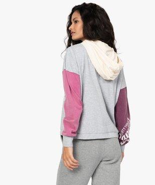 Tee-shirt femme à capuche façon sweat - CAMPS vue3 - CAMPS UNITED - GEMO