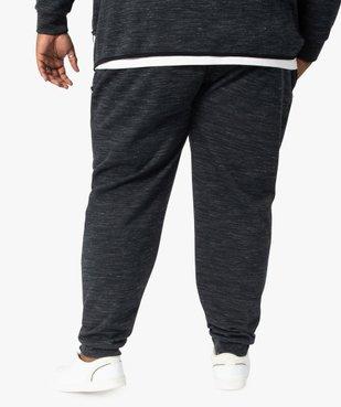 Pantalon homme en maille chinée à poches zippées vue3 - GEMO (G TAILLE) - GEMO
