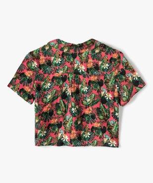 Chemise fille coupe courte à nouer dans le bas vue4 - GEMO (JUNIOR) - GEMO