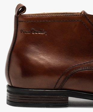 Derbies homme unis chukka boots en cuir – Pierre Cardin vue6 - PIERRE CARDIN D - GEMO